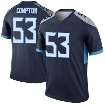 Youth Nike Tennessee Titans Will Compton Navy Jersey - Legend