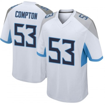 Youth Nike Tennessee Titans Will Compton White Jersey - Game