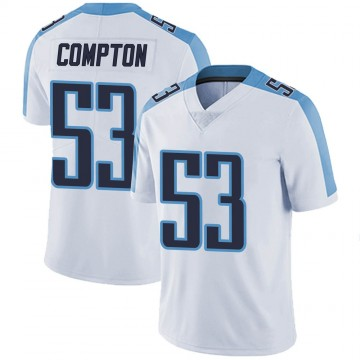 Youth Nike Tennessee Titans Will Compton White Vapor Untouchable Jersey - Limited