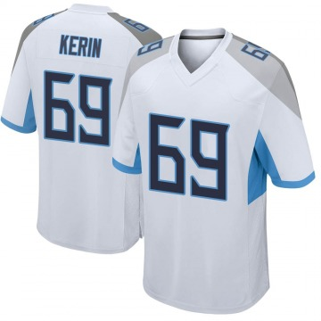 Youth Nike Tennessee Titans Zac Kerin White Jersey - Game